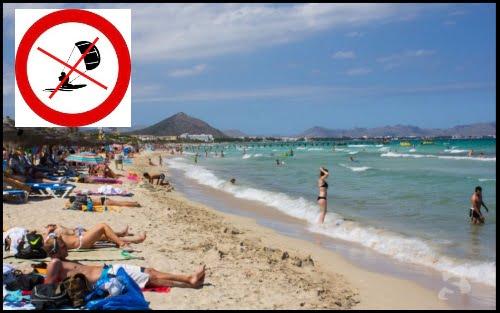Playas de Muro do ne pas faire de kitesurf a cette plage