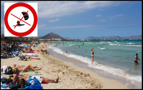 Playas de Muro do not kitesurf there