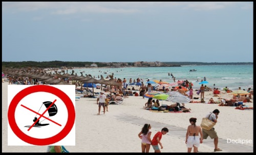 Sa Rapita do not kitesurf there