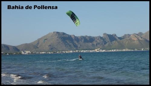 Zone de kite autorisée à Bahia de Pollensa à Majorque