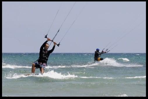 meilleur positionement de la jambe arriere pour remonter au vent - mallorca kite ecole