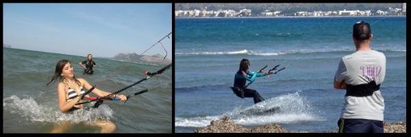 unsere Kite-Kurse fanden immer in der Bucht von Pollensa statt
