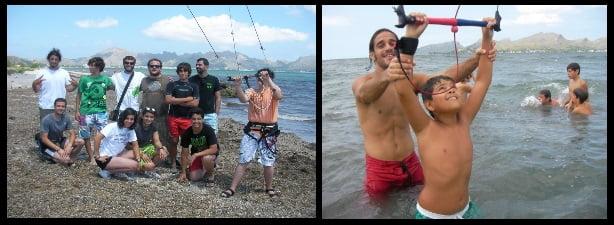 The success of these kitesurf lessons thanks to Kitesurfing Mallorca kiteschool