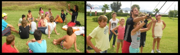 KITESURF PRACTICES WITH CHILDREN