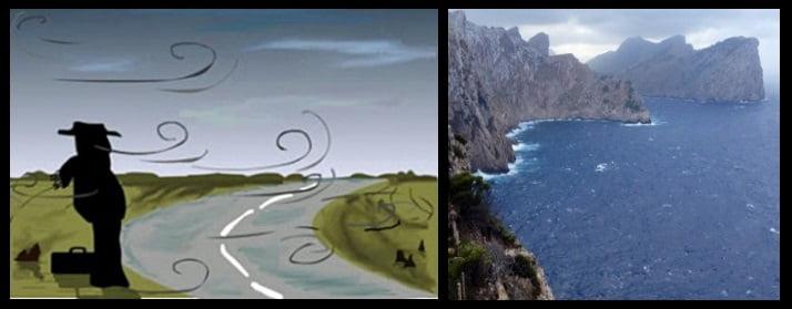 Thermischer Wind auf Mallorca
