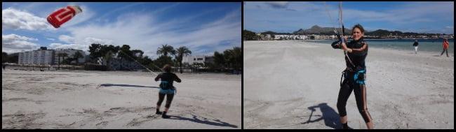 1 cours de kitesurf à Alcudia en avril Martina d'Allemagne