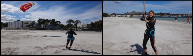 1 kitesurfing lessons in Alcudia in April Martina from Germany