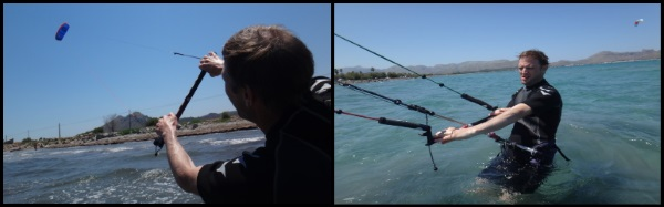1 kitesurfing lessons in May Alcudia Mallorca with Peder