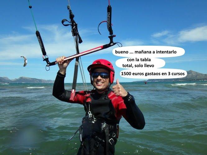 Dani clases de kite en Palma de Mallorca en Julio