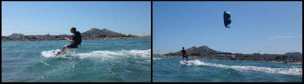 2 Mallorca kiteschool swedish kite lessons in May in Alcudia