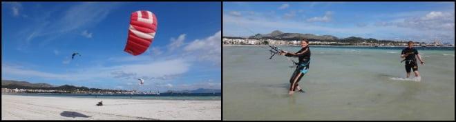 2 leçons de kitesurf Martina et Toby en langue française à Alcudia