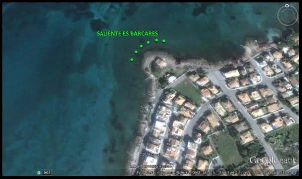 2 rock ledge in Pollensa bay kite downwind for beginners