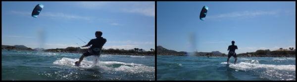 3 estudiantes de kite con cometas flysurfer kite en Alcudia en mayo
