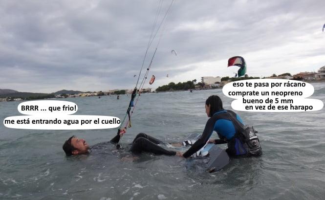 aprender kite en Palma de Mallorca en Junio con flysurfer