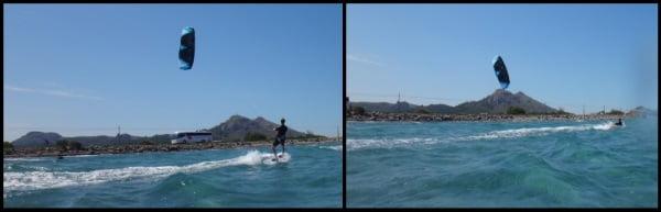 4 Sa Marina kiteschool Alcudia in May Peder first 300 mts kite ride