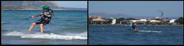 7 Hilde and Peder learn kitesurfing in two days kite course May in Mallorca