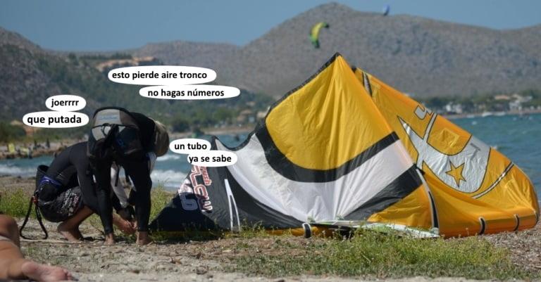 Alcudia escuela de kite en Mallorca en Junio