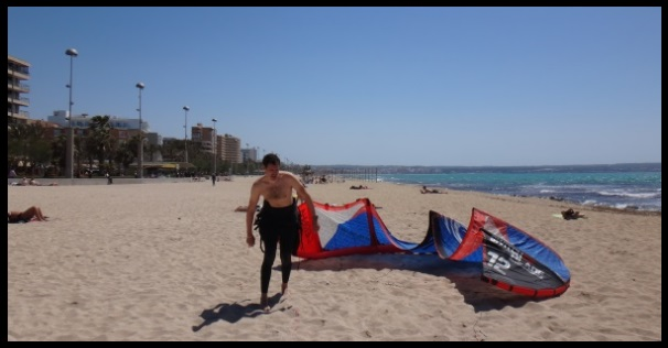 Can Pastilla, kitesurfing lessons in Mallorca best beach Alcudia