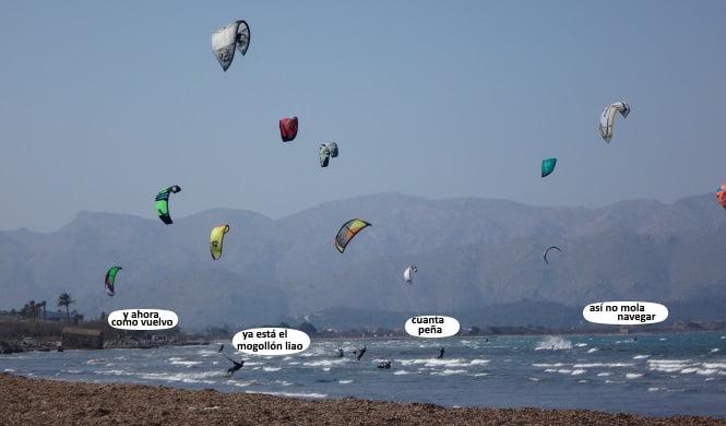Sa Marina viento en Mallorca en Junio