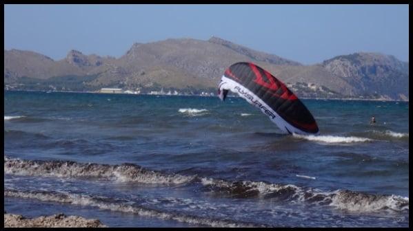 flysurfer kite lessons in Mallorca in April