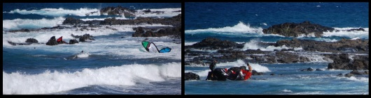 kite fall on the surf pull quick release may save your kite