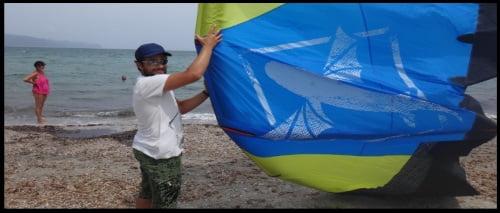 different degress of launching regarding the type of kite
