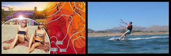 sun and kitesurfing Mallorca kiteschool in May. jpg