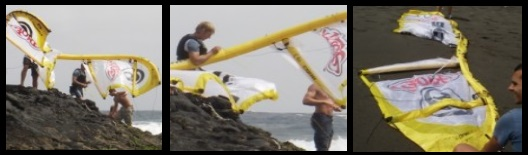 tube kite destroyed don't kitesurf in waves only experts