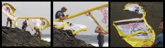 tube kite destroyed don't kitesurf in waves only experts