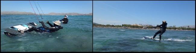 1 Roland se prepare pour le waterstart kite course a Majorque en Juin