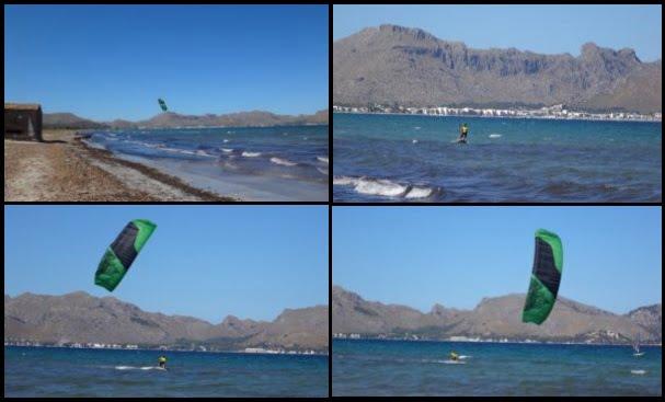 1 etages de kitesurf a Majorque avec Hamza en Août