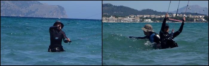 1 primera toma de contacto con el kite curso de kitesurf Mallorca Julio