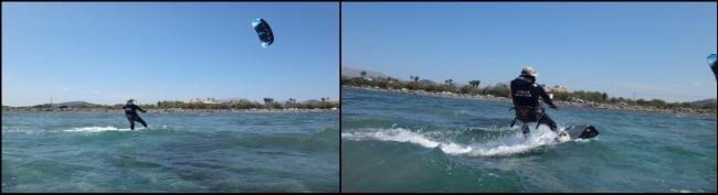 2 Roland se lève parfaitement sur le kiteboard et commence à naviguer