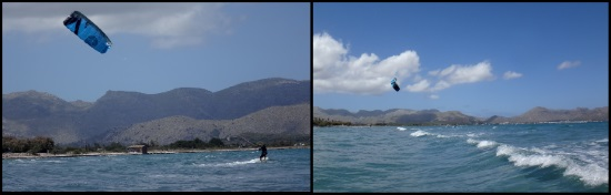 3 primera navegación en kitesurf Caroline 2 días en kitesurf en Julio