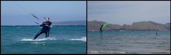 4 Peak 12 mts apprendre le kitesurf à Palma de Majorque kitesurfing mallorca leçons de kite en Juillet avec Sofie