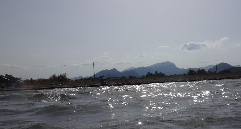 4 Peak 9 meters flysurfer kite lessons in mallroca with Oriol