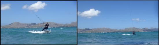 4 cometas flysurfer kite school Caroline clases de kitesurf en Mallorca aprenden en dos días