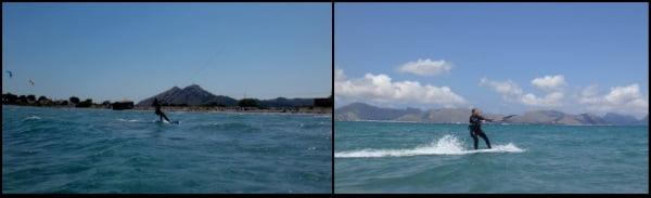5 Kitesurf au loin et retour à la plage Sofie Kite Course Juillet