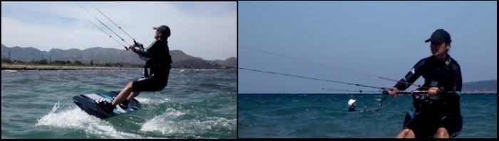 5 clases de kitesurf en Mallorca con Kristina viento en kitespot Pollensa