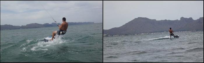 seguir las indicaciones de su monitor de kitesurf curso de kite en Can Pastilla