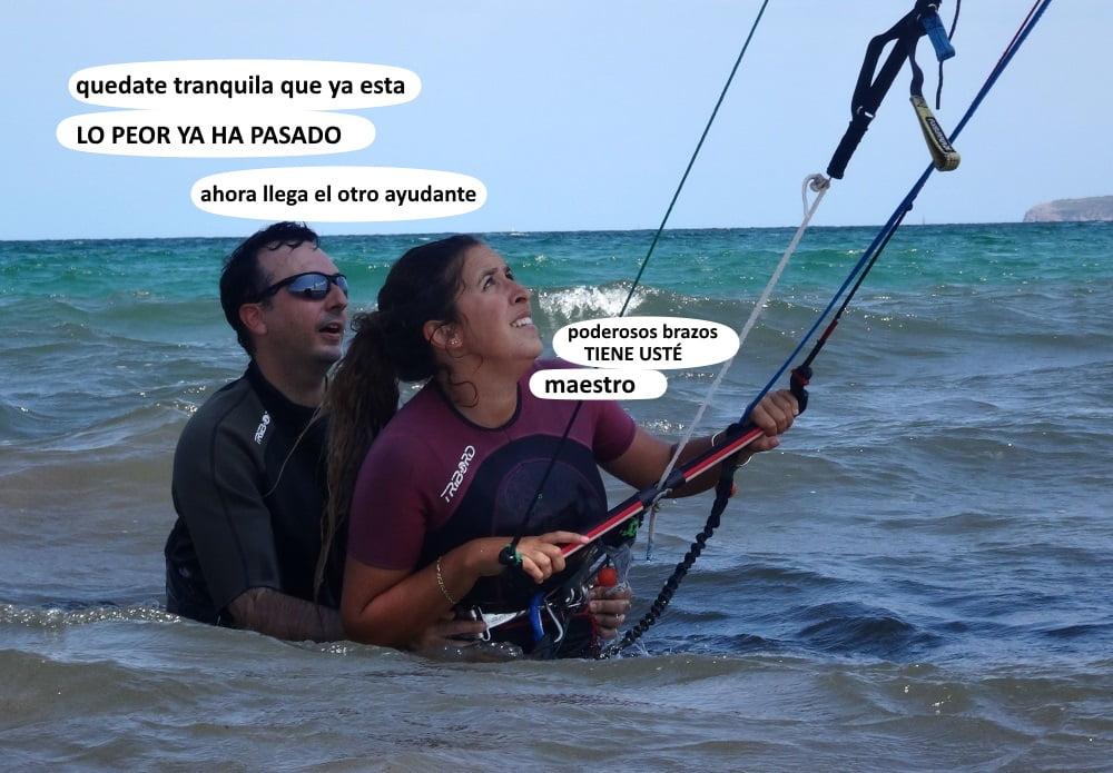6 curso de kite en Pollensa Mallorca Carlos clases en Junio