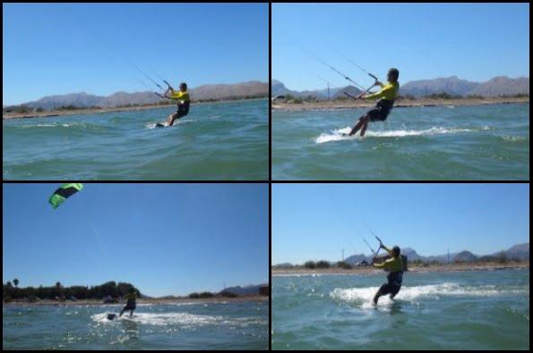 6 kite progression avec Mallorca kiteschool cours en Août Hamza a Pollensa