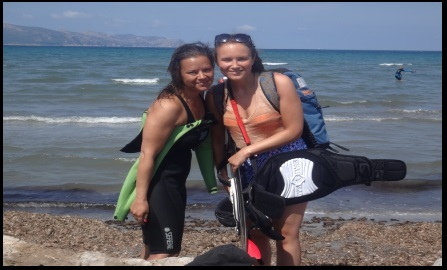 7 Et une dernière photo de Sofie avec son instructeur de kitesurf