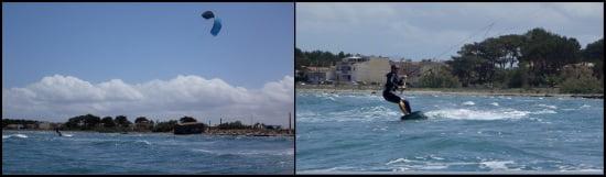 9 viento en Pollensa la escuela kitesurfing mallorca curso en Junio