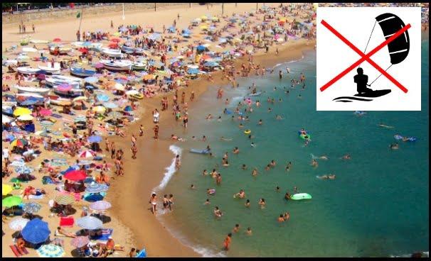 Do not kitesurf in Can Pastilla