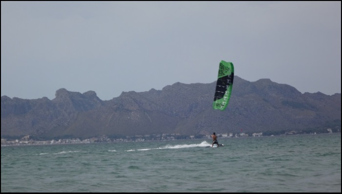 In the case of this entry to our kite blog kite course in mallorca in August