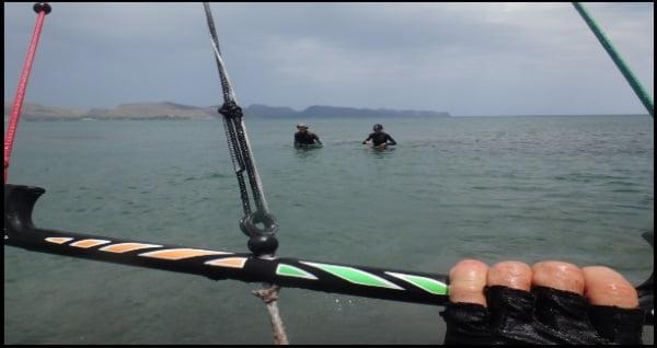 Mallorca kiteschool los comandos que desde la barra del kite se mandan a la misma