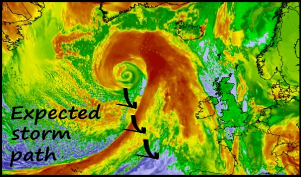 chemin de tempête attendu kitesurfing mallorca meteorologie