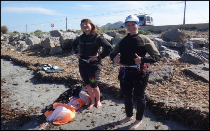 felicidades Agnieszka curso de kitesurf en Mallorca en Mayo