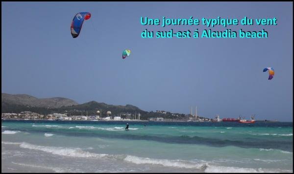 kitesurf dans le nord de l'ille